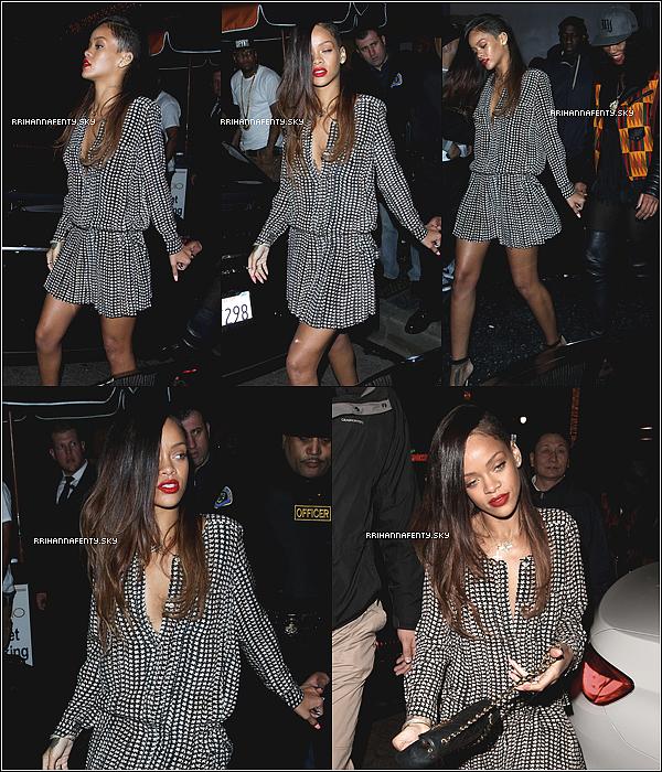 .Candids. : 06.01.2013 : Rihanna a été aperçue quittant le club My Studio à Los Angeles en compagnie de sa meilleure amie Mélissa. Elle aborde par ailleurs une nouvelle coupe de cheveux, qu'en pensez-vous ?