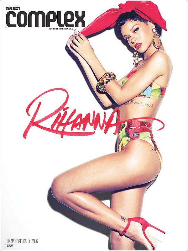 .Magazine. : 02.2013 & 03.2013 : Le magazine américain Complex vient de dévoiler sur son site internet une série de photos de Rihanna, à paraître dans leur édition du mois de février/mars. De plus, vous avez la possibilité de lire leur cover story en anglais ici.