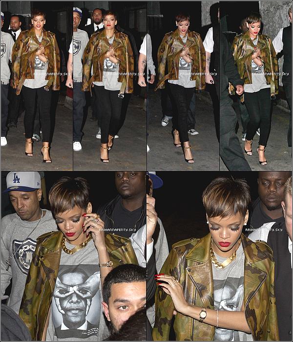 Candids : 27.01.2013 : Rihanna a été aperçue quittant le club My Studio. De plus, Mert Alas, un photographe, a posté quelques photos de Rihanna annonçant l'apparition d'un nouveau photoshoot.