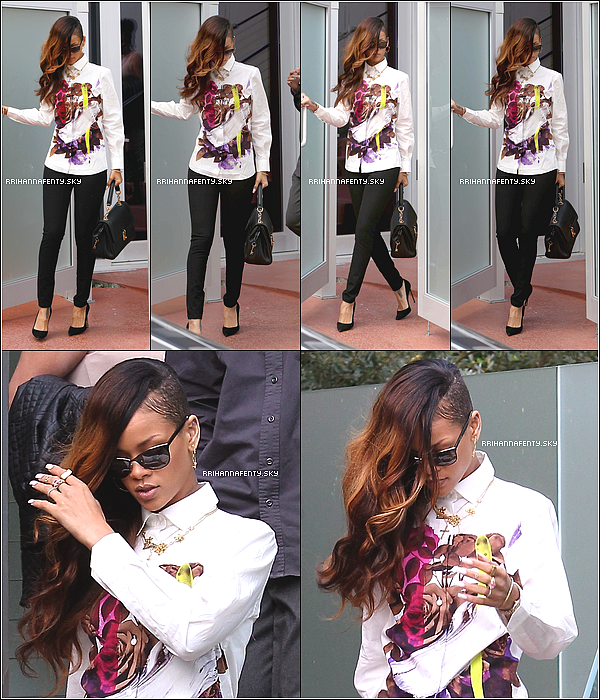 Candids : 06.02.2013 : Rihanna a été aperçue aujourd'hui quittant la maison de Chris Brown à Los Angeles, suivie de sa meilleure amie Melissa et de Joyce Hawkins, la mère du chanteur. Plus tard dans la journée, elle quittait le tribunal de Los Angeles, où la chanteuse a accompagné son compagnon Chris Brown; ce dernier ayant attaqué le chanteur Frank Ocean très récemment. Ensuite, elle était de retour chez lui.