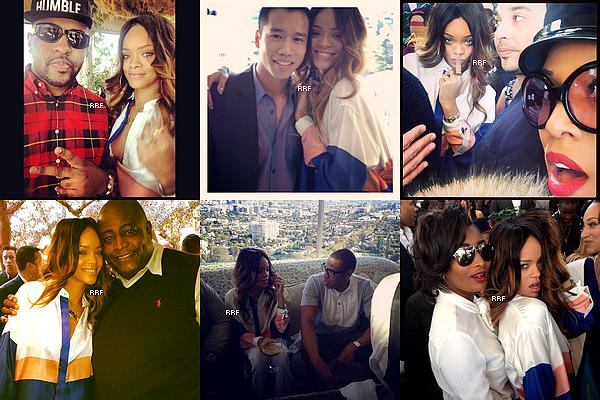 Apparitions Publiques : 09.02.2013 : Rihanna était présente au brunch des Pré-Grammy Awards organisé par Roc Nation. De plus, des photos personnelles ou avec des fans sont aussi disponible.