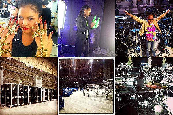 Diamond World Tour : 2013 : Depuis son retour de Hawaï, Rihanna se rend chaque jour en répétitions pour sa prochaine tournée, le Diamonds World Tour, qui débutera le 08 mars prochain à Buffalo aux États-Unis.