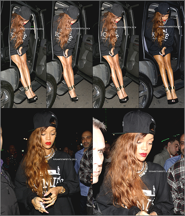 Candids : 26.02.2013 : Rihanna a été aperçue hier soir arrivant au club Supperclub à Los Angeles, où Chris Brown était également présent. De plus, des photos de fans sont disponibles.