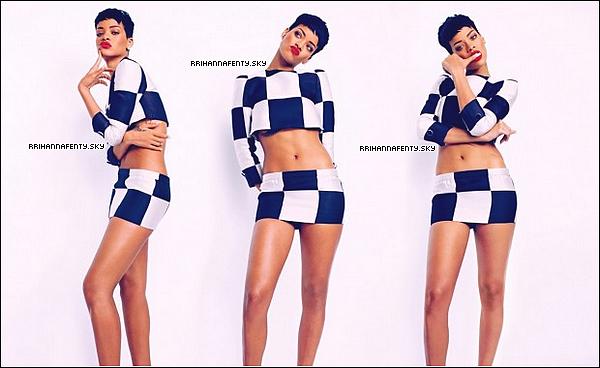 Magazines : 04.2013 : Le magazine avait dévoilé que cette édition du mois d'avril à l'effigie de Rihanna serait disponible en deux éditions, chacune avec une couverture différente. De plus, les abonnés ont droit à deux autres éditions spéciales, à nouveau avec des couvertures différentes. Quelques photos du photoshoot sont aussi disponible.