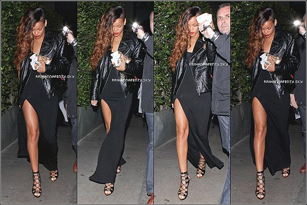 Candids : 28.02.2013 : Après avoir dînée avec Chris Brown, elle a été aperçue quittant son restaurant préférée, le Giorgio Baldi, à Los Angeles. Elle portait l'une des robes faisant partit de sa collection pour River Island.
