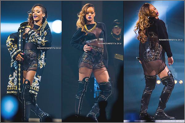Live Performances : 21.03.2013 : Plus en forme que jamais, Rihanna a donné toute son énergie sur scène alors qu'elle se produisait à Détroit dans le Michigan. De plus, d'autre dessins des costumes du Diamonds World Tour sont disponible.
