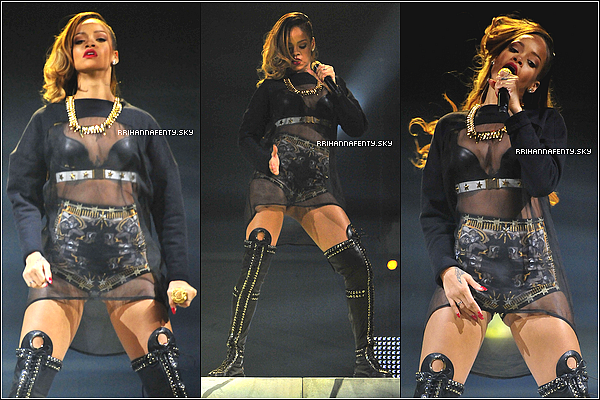Public Appearances + Live Performances : 22.03.2013 : Dans le cadre de son concours vidéo Shine Bright Like A Diamond, Rihanna a rendu visite à la Barrington High School afin de rencontrer les gagnants. Cependant, elle et son équipe ont décidé de bannir les journalistes ainsi que les paparazzis de l'évènement. Mais nous avons droit à des photos de fans. Plus tard dans la journée, elle continuait sa tournée Diamonds World Tour à Chicago.