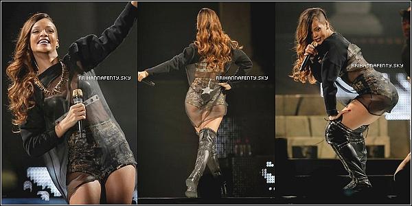 Live Performances : 30.03.2013 : Rihanna est depuis le 29 mars à Calgary au Canada, où elle a donné un concert au Scotiabank Saddledome. Elle a été aperçue avant son concert montant dans le bus de sa tournée, puis s'est rendue après son concert au club Ten X avec A$AP Rocky.