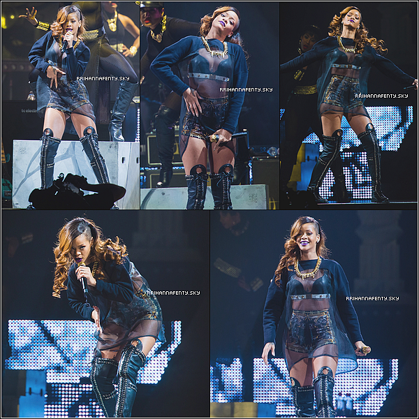 03.04.2013 : Rihanna poursuit sa tournée à Seattle à la Key Arena. De plus, le premier teaser du 777 Tour est disponible ainsi que des photos Instagram.