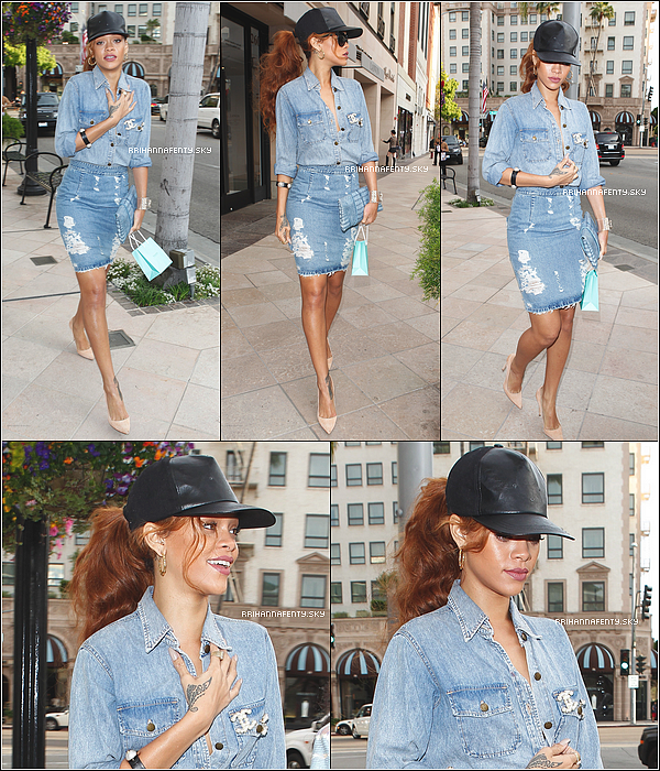 05.04.2013 : Rihanna a été aperçue en train de faire du shopping à Los Angeles. C'était d'ailleurs une journée spéciale pour notre chanteuse puisque c'était l'anniversaire de sa mère, Monica.
