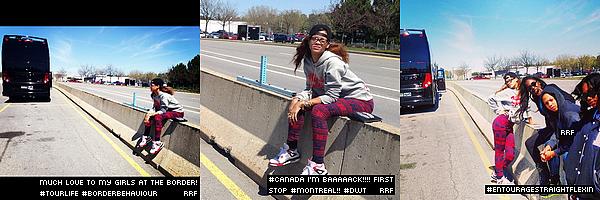 01.05.2013 :  Rihanna est de retour à Montréal dans le cadre de sa tournée. De plus, quelques photos venant de son compte personnel Instagram sont disponible.