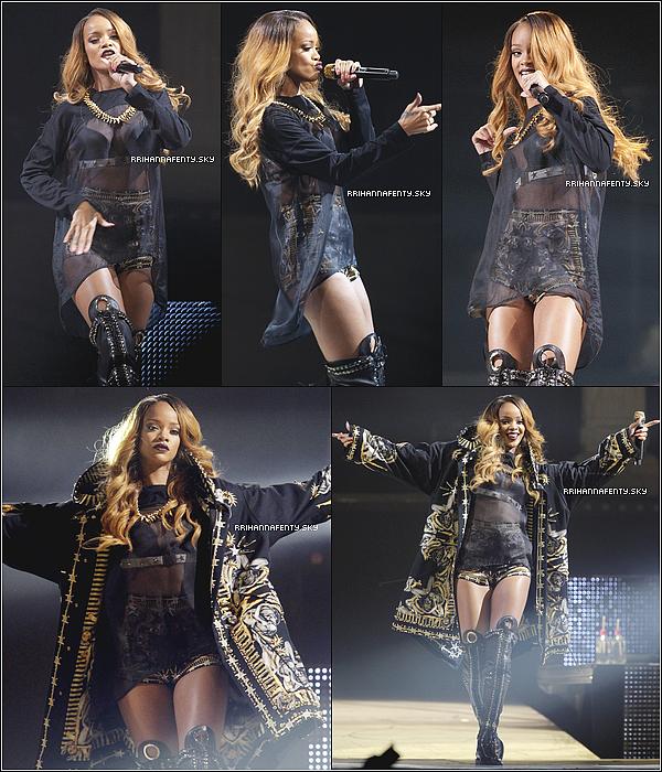 05.05.2013 :  Rihanna a été aperçue plus tôt dans la journée quittant son hôtel à New York. Elle se rendait sur les lieux du concert qu'elle donnait au Barclays Center de Brooklyn. De plus, une photo Instagram est disponible.