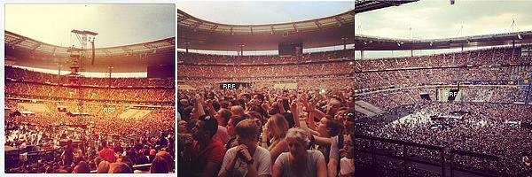 08.06.2013 : La belle a performé devant 80 000 personnes en direct du Stade de France à Paris. La première partie du show a été assuré par le célèbre DJ français David Guetta. De plus, quelques photos Instagram sont disponible.