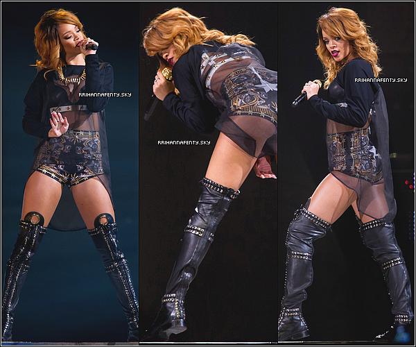 29.06.2013 : Rihanna a donné son premier concert au Hallenstadion à Zurich, en Suisse. Suite à son concert, Rihanna a été aperçue quittant un nightclub dans les rues de Zurich avec ses amis. Le visuel du nouveau parfum de Rihanna, Rogue, vient d'être dévoilé. Par contre, la date de sortie n'a pas encore été communiquée.