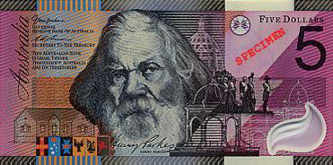 Plusieurs billets australien