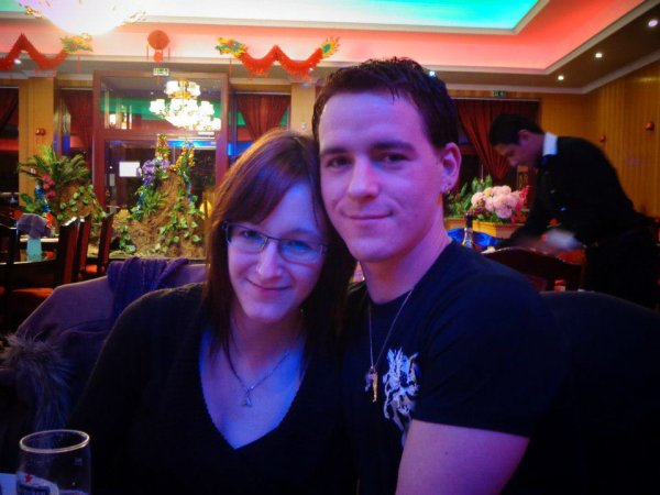 Mon cheri et moi au restaurant chinois