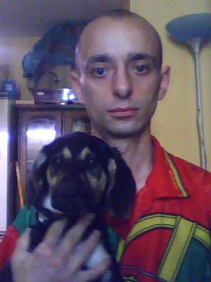 moi et ma ptite chienne lola
