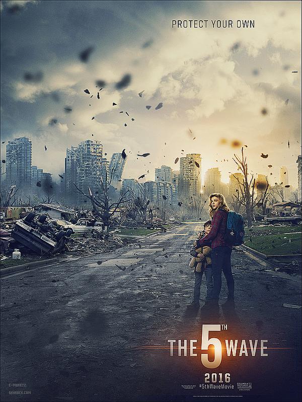 . Après le trailer, voici le premierposter officiel de «The 5th Wave » qui vient d'être dévoilé..