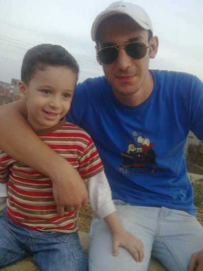 with my nephew