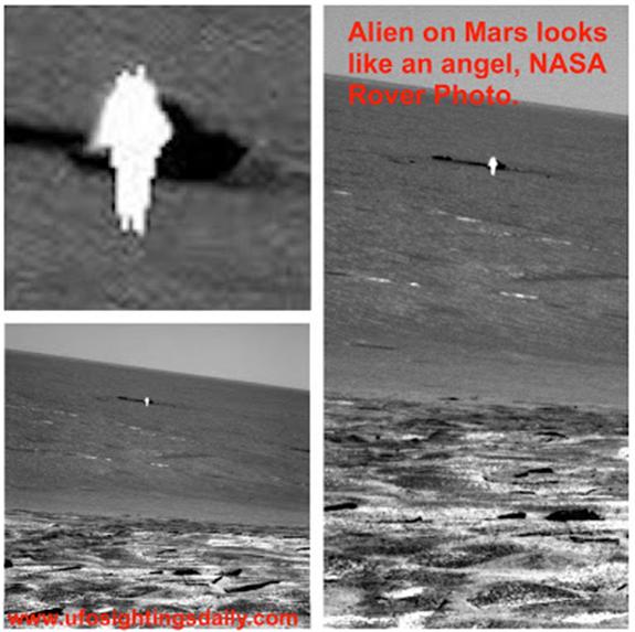 Dossier Spécial n°11 : Une silhouette humaine et lumineuse photographiée sur Mars