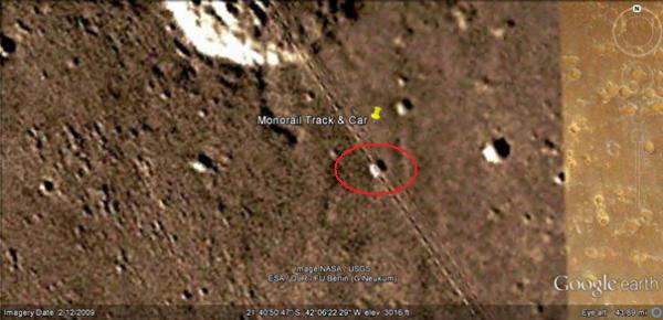 Des rails ferroviaires trouvés sur la planète Mars ?