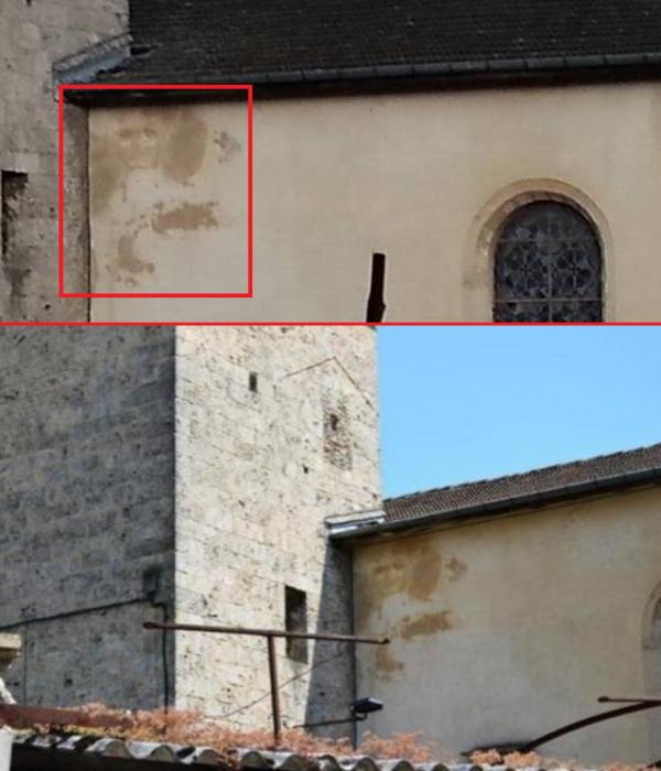 Une étrange apparition sur l'Eglise de Saint-Marcellin
