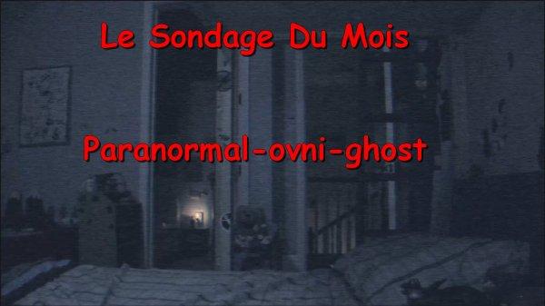 Sondage Du Mois N°2 : Croyez-vous aux fantômes ?