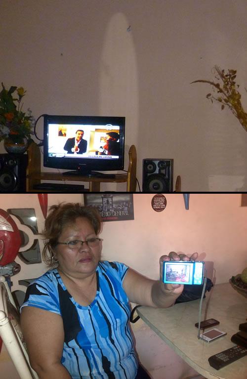 Elle photographie la Vierge marie dans sa maison au Pérou