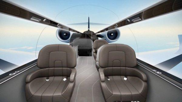 Un jet innovant nous offre une vue panoramique sur le monde extérieur, en immersion totale (Hors-Sujet 40)