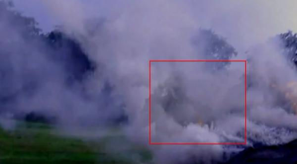 Un fantôme photographié dans l'incendie d'une voiture
