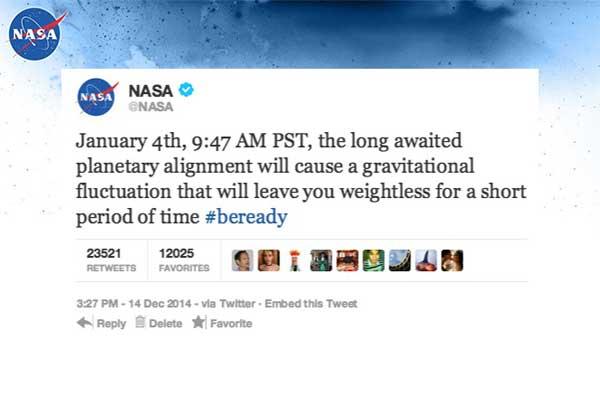 Un phénomène rare supprimera la gravité sur Terre !