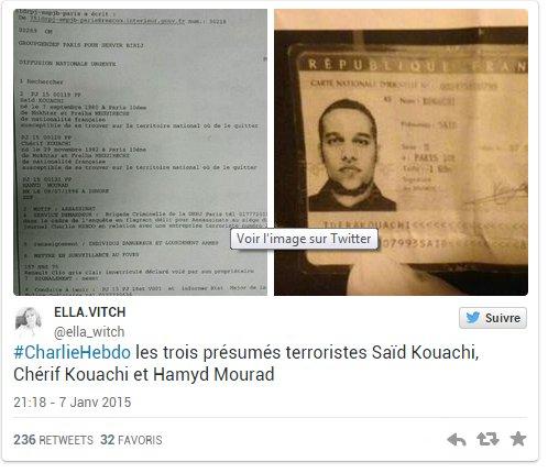 Attentat à Charlie Hebdo : Voici les tueurs recherchés (Hors-Sujet 56)