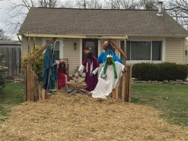 Une crèche de Noël avec des zombies dans l'Ohio