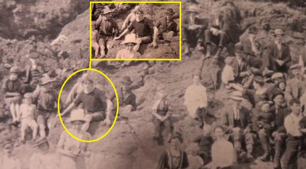 Un voyageur temporel sur une photo de 1917