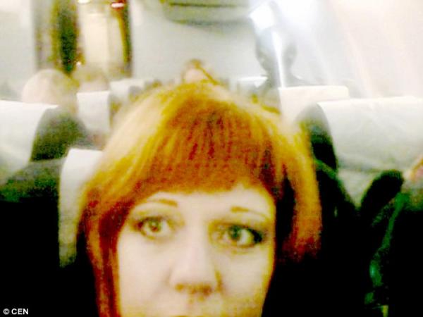 Un fantôme photographié dans un avion en Russie