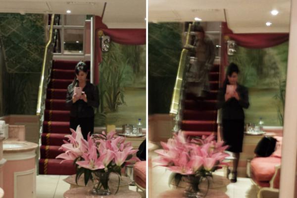 Le fantôme d'une femme photographiée du Ritz