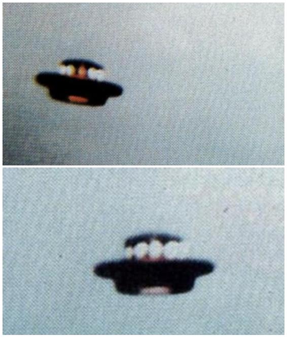 Un OVNI en forme de chapeau photographié en 1993