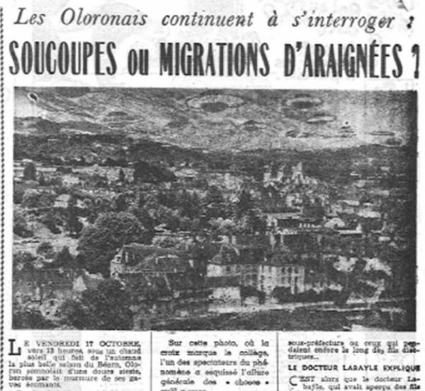 Un OVNI en forme de cigare en France en 1952