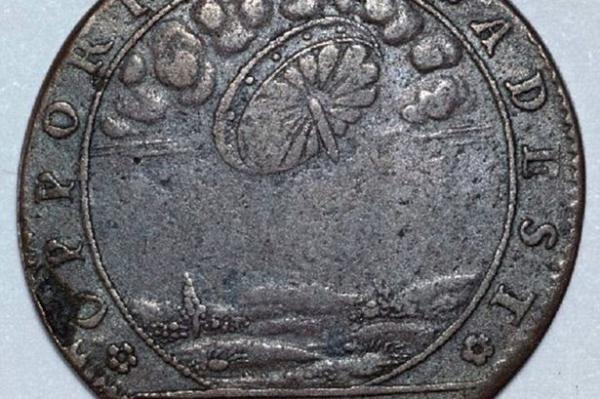 Un OVNI sur une pièce de monnaie française