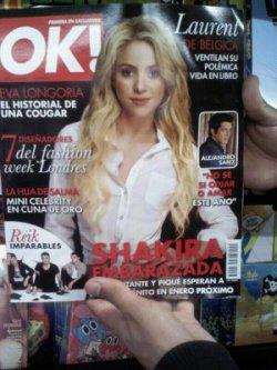 Shakira en couverture du magazine « Ok! » mexicain