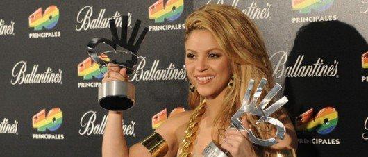 40 Principales 2012 : Shakira remporte un award !