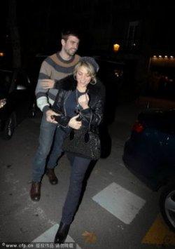Shakira a été aperçue à Barcelone hier soir