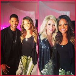 Photo de Christina Milian et Shakira dans les coulisses de « The Voice »