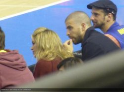 Shakira assiste à un match de basket