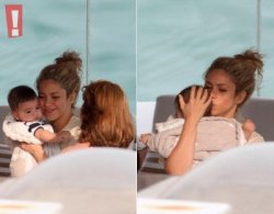 Shakira et Milan à l'hôtel Fasano sur leur balcon (Rio De Janeiro)