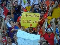 Shakira assiste au match de la sélection espagnole !