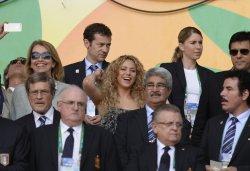 Shakira durant le match Espagne vs Italie !