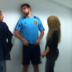 Shakira à la finale Brésil / Espagne (suite)