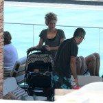Shakira et Milan à leur hôtel !