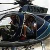 Shakira et Gerard à bord d'un hélicoptère à Hawaii (USA)